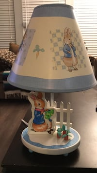 white and blue ceramic table lamp Langley, V3A 2C5