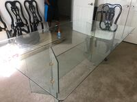 Glass table top and glass base Spring, 77373