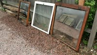 brown wooden framed glass windows Colorado Springs, 80907