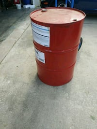 red and white plastic barrel Hagerstown, 21740