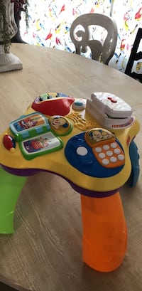 toddler's multicolored activity table