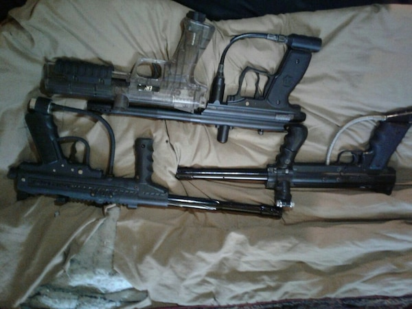 Used Paintball guns that work perfect make offer for sale in