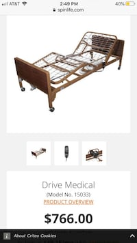 Electric Medical bed  Bakersfield, 93306