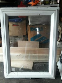 white wooden framed glass panel window W31×H41 Takoma Park