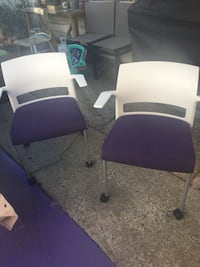 Two white and purple rolling chairs Hayward, 94541