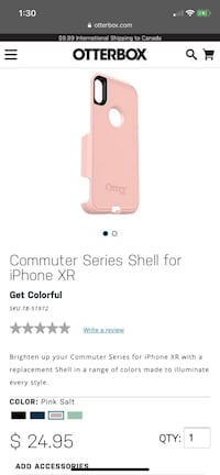 Commuter Series Shell for iPhone XR Brampton, L6X