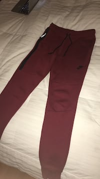 Nike red tech fleece sweatpants