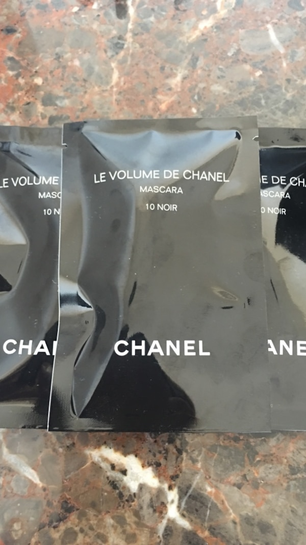Chanel 3-Freshly Sealed Packets Of Mascara 10 Noir 1ml In Each Mini
