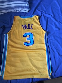 yellow and blue Adidas Golden State Warriors jersey Maple Ridge, V2X 3K8