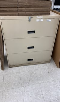 Three drawer lateral file cabinet