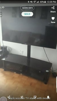 black wooden TV stand with mount Toronto, M9L