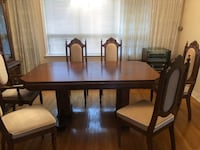 All wood Dining room table and 6 chairs Toronto, M6A 1S2
