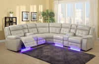 NEW 6 PCS LED POWER RECLINER SECTIONAL Clifton, 07013