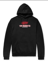 black and red The North Face pullover hoodie Orange, 92865