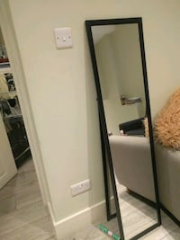 black wooden framed wall mirror Greater London, W3 7RG