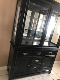 Buffet with cabinets black wood Los Angeles, 91605