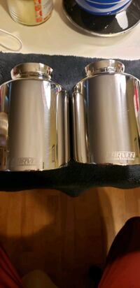 """2015-2019 Dodge Charger 5"""" Carven exhaust tips polished."""