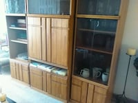brown wooden framed glass cabinet Olney, 20832