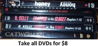 DVDs - Various Titles Lot 3 (Take all 5 DVDs for $8) Mississauga