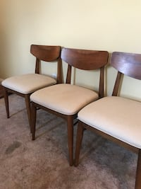 4 Antique Mid-Century Chairs.  Solid Wood and Rebounded.  They are in Excellent Condition   Woodbridge, 07095