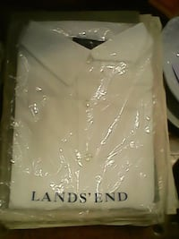 Lands End white shirts Women's and Men's XL L and Medium