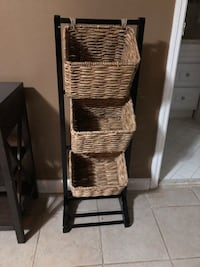 Three tiered wicker baskets -TJ Max Nashville, 37204