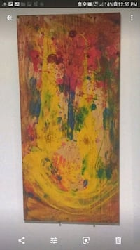 brown and red abstract painting Las Vegas, 89149
