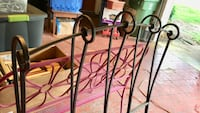 Wrought iron twin bed frame Bedford