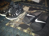 Nike size 8 and 1/2 tennis shoes in size 13 slides Early