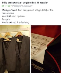 Dress til konfirmant Porsgrunn, 3946