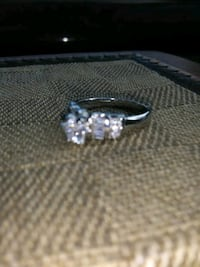 White Gold & Diamond Engagement/ Sweet heart Ring Albuquerque