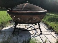Fire pit with cover and wood Sparta, 49345