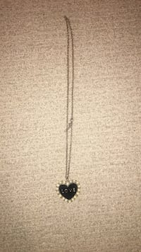 silver-colored necklace with blue gemstone pendant North Saanich, V8L 5T2