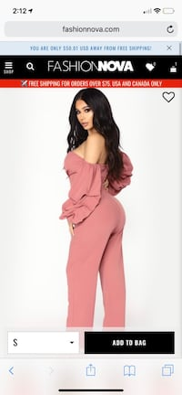 Mauve Fashion Nova Ryana Off Shoulder Jumpsuit Fort Washington, 20744