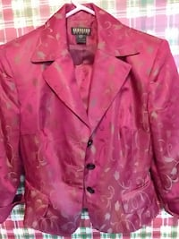 pink and brown floral Georgiow three-button blouse Oklahoma City, 73114