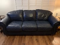 Navy Blue Leather Couches (2 Available) Waterloo, N2K 3L9