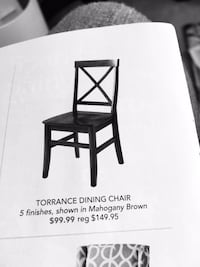 See ad for chair yours for 12
