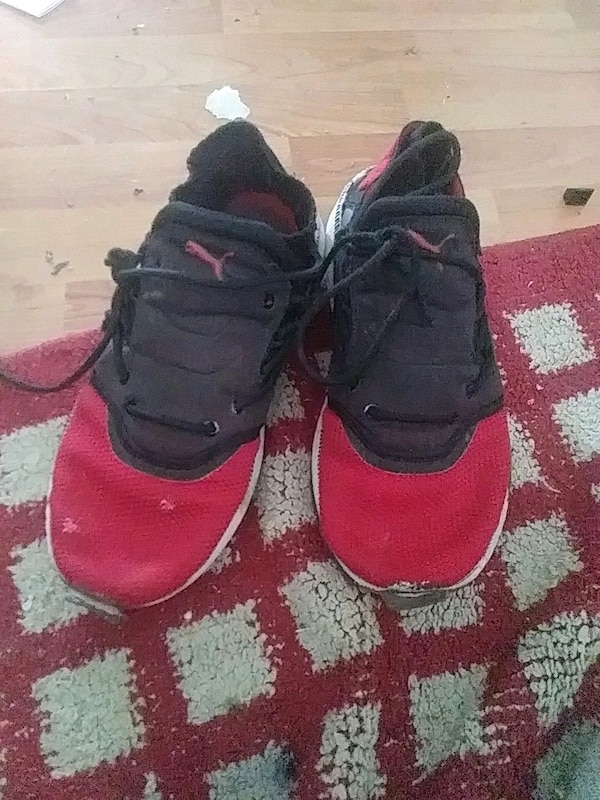 ae62b830f1ed85 Used pair of red-and-black puma basketball shoes for sale in Arlington -  letgo
