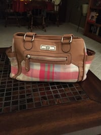 Pink Plaid Shoulder Bag Albany