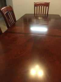 Brown wooden cabinet, table, chairs, coffee & end tables  San Jose, 95123