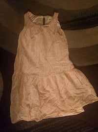 Girls (size 9) brown sleeveless dress 546 km
