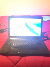 Black and gray laptop computer hp laptop never use it great condition.