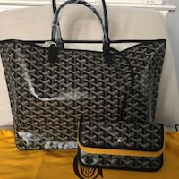 black and gray leather tote bag New York, 10459