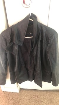 black leather zip-up jacket Fort Washington, 20744