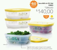 Tupperware Sera 800 ml. 4 lü Konya, 42100