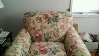 white, pink, and green floral sofa chair Mount Vernon, 10552