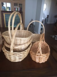 Wicker baskets, variety of sizes & shapes Whitchurch-Stouffville, L0H 2C9