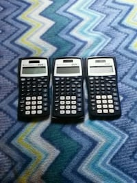 three black scientific calculators Fridley, 55432