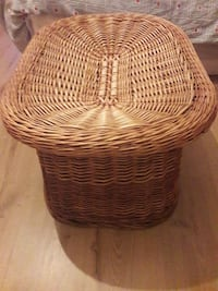brown wicker table or footstool London