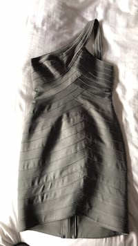 Grey BCBG Cross Shoulder Dress Montreal